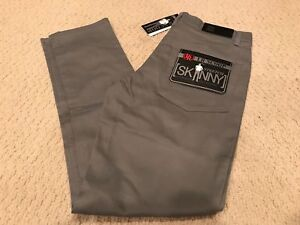 NWT Boy's LR Scoop Solid Gray Stretch Denim Classic Skinny Jeans ALL SIZES 8-18
