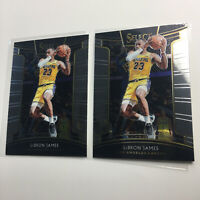 (2 LOT) 2018-19 LeBron James Panini Select Concourse #11 Lakers Card