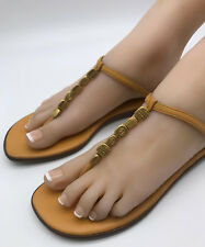100% Authentic Chanel Mango Coloured Thong Sandals Flip Flops Slippers