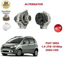 für Fiat Idea 1.9 JTD 101bhp 2006> nach 90A Lichtmaschine Einheit
