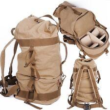 DSLR SLR Camera Backpacks Padded Case Canvas Packsack Travel Hiking Bag Rucksack