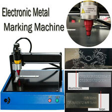 Electric Metal Marking Engraving Machine 300x200mm For Card Dog Tag Steel Signs