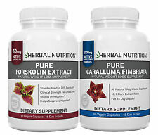 #1 Rated Diet Stack Pure Caralluma Fimbriata 1000mg & Pure Forskolin 250mgs