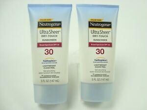 Neutrogena Ultra Sheer Dry-Touch Sunscreen SPF 30 5 fl oz  (2 Pack)