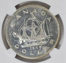 1949 SILVER CANADA SILVER $1 DOLLAR NGC AU58