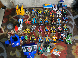 Rescue Heroes Mattel Fisher Price Action Figures  Vehicles Lot 38 Pieces