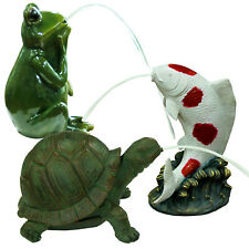 More details for bermuda pond pals spitters tortoise jumping koi frog pond fish ornament decorate