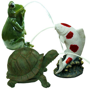 Bermuda Pond Pals Spitters Tortoise Jumping Koi Frog Pond Fish Ornament Decorate