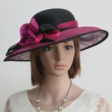 New Woman Church Kentucky Derby Wedding Cocktail Party Sinamay Dress Hat 74561