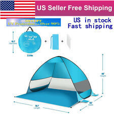 Automatic Pop Up Tent UV Protection Camping Sun Shelter Canopy Beach Umbrella