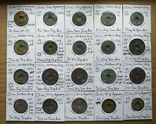 China, lot of 20 ancient cast coins of various sizes, Ad 7 - 1821