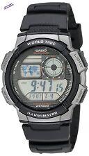 Casio for Men Watches AE1000W-1BVCF Silver-Tone Black Digital Sport Waterproof