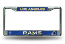 Los Angeles Rams RETRO COLOR Authentic Metal License Plate Frame Auto Truck Car