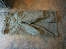 Vintage French Army Canvas Motorcycle Dispatch Trousers Pants Sz 38 x 30 1950s