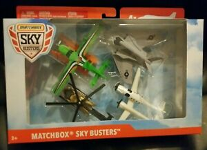 Matchbox Skybusters 4 Pack Diecast Airplanes Nighthawk Set Brand New