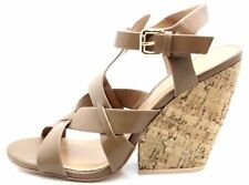 Very Volatile Womens Clarice Wedge Slingback Sandal Camel Size 9 B US