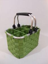 Flaschenkorb Flaschenträger Flaschenhalter 6-Fach Nylon Klapphenkel grün