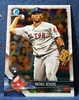 2018 Bowman Chrome #8 Rafael Devers RC - Red Sox Mint
