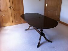 Set of : Mahogany Dining Table, Chairs and Sideboard.