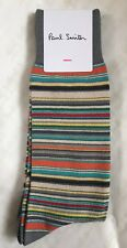 Paul Smith Men Sock Multi Stripe Made In England Grey