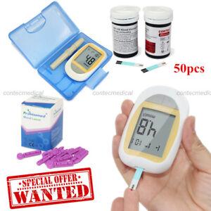 CONTEC Blood Glucose Meter Starter Kit with 50pcs Test Strip-Blood Sugar Monitor
