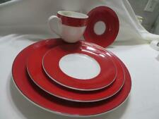 Lenox Kate Spade Rutherford Circle Red Dinnerware Set 5Pieces New