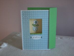 Carol's Rose Garden - Get Well - Daisy in pot on cover
