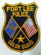 VINTAGE FORT LEE, NEW JERSEY POLICE COLOR GUARD SHOULDER PATCH NJ