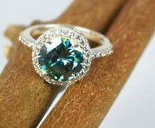 7.83 Ct. Blue Diamond Solitaire 925 Silver Women's Ring