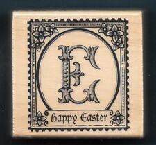 HAPPY EASTER POSTAGE E Religious Holiday Card NEW CRAFT SMART wood RUBBER STAMP