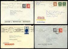 NORWAY 1952 PRINTED ENVELOPES...4 ITEMS