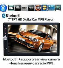 "Bluetooth 7"" Double DIN Car Stereo MP5 Touchscreen FM Radio Player Head Unit"