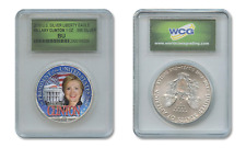 HILLARY CLINTON White House 2016 PURE 1oz SILVER AMERICAN EAGLE in SEALED SLAB