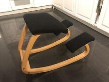 Stokke Variable Balans Kneeling Chair Black Orthopaedic Back Spine Varier