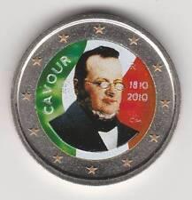 --- 2010A - 2 EURO C0ULEUR --- ITALIE / CAVOUR 1810-2010
