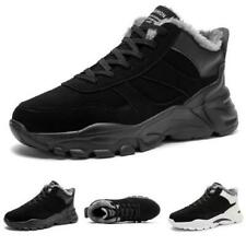 Mens Winter Leisure Sneakers Shoes Outdoor Running Fur Inside Warm Gym Casual D