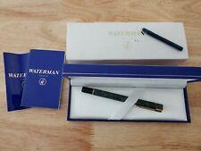 Waterman Laureat Green Marble Fountain Pen Medium Pt New In Box