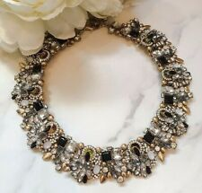 Ladies Black & Gold Statement Necklace by Jewels by House of Aria