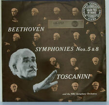 "BEETHOVEN SINFONIE Nos. 5 & 8 ARTURO TOSCANINI NBC SYMPHONY 12"" LP (c977)"