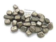 Spanish Cube PYRITE tumbled stone Gemstone with pouch size Large 8.1-15 grams