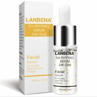 lanbena 24k gold six peptides serum anti-aging wrinkle lift firming skincarFBDU