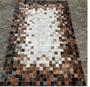 NEW COWHIDE PATCHWORK CARPET AREA RUG Cow hide EXCLUSIVE EXPLOSION 6ft x 4ft