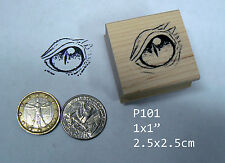 P101 Small Dragon's Eye Rubber Stamp