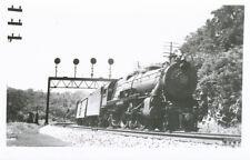Tyrone PA * Pennsylvania RR Engine #5466  RPPC  1941  PRR