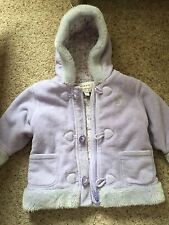 Next 12-18 Months Fleece Coat With Hood Girls Baby Winter Jacket