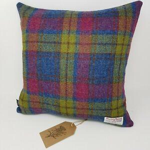 Tartan Check HARRIS TWEED Wool handmade Scottish Hues Cushion Cover all sizes