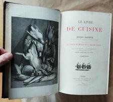 Le Livre de Cuisine Jules GOUFFE éd Hachette 1884 182 gravures 4 chromolithos
