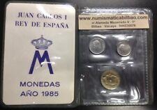 ESPAÑA 1985 CARTERA SC 1+10+100 PESETAS SIN CIRCULAR JUAN CARLOS I 3 MONEDAS