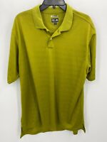 Adidas Mens Large Golf Shirt Chartreuse Green ClimaCool Short Sleeve Polo Golfer