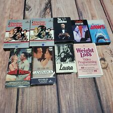 Lot of 9 Betamax Movies Vintage Beta Tapes Jaws, The Godfather, Doctor Zhivago